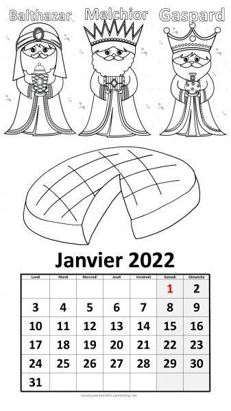 Coloriage Calendrier 2022 Calendrier 2022 à thème à colorier