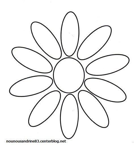 Activit manuelle jolie marguerite - Coloriage fleur 8 petales ...