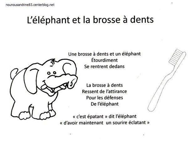 Favori manuelle : l'éléphant et la brosse à dents RZ89