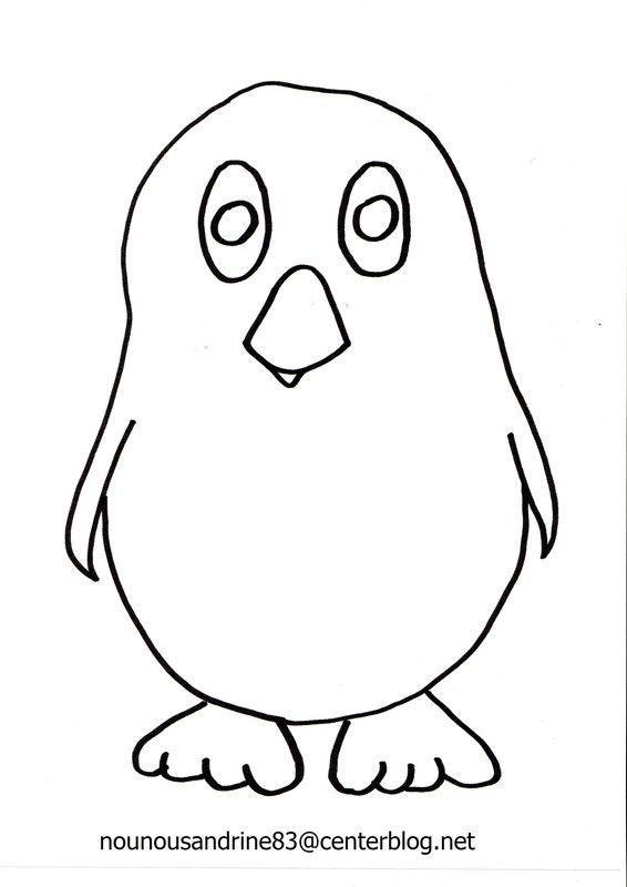 Pingouin coloriage gommettes - Coloriage pinguin ...