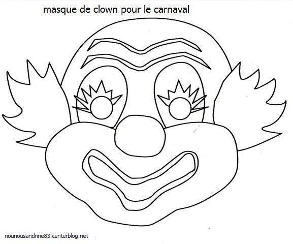 activit manuelle masque de clown. Black Bedroom Furniture Sets. Home Design Ideas