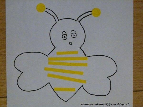 Fabuleux activité manuelle : insectes : abeille : comptine YY12