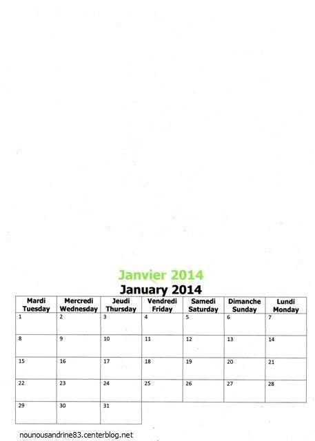 activité manuelle : calendrier 2014