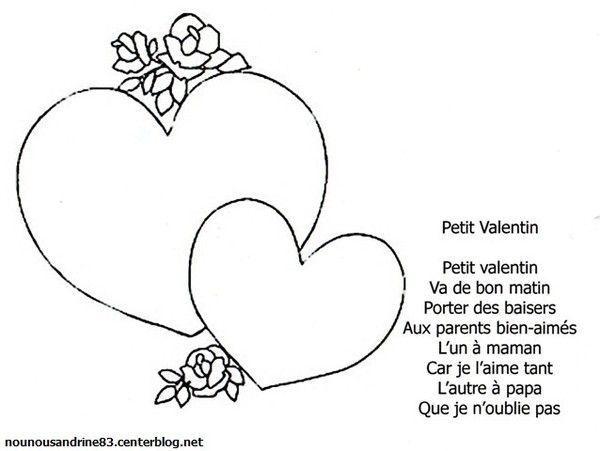 Comptine petit valentin - Parole saint valentin ...