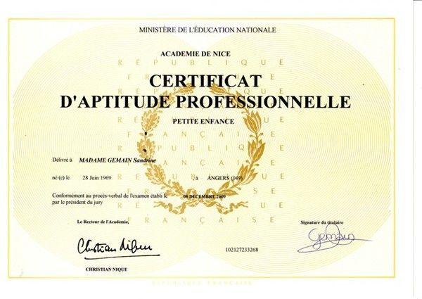 Diplome de petite enfance - Diplome de cuisine a imprimer ...
