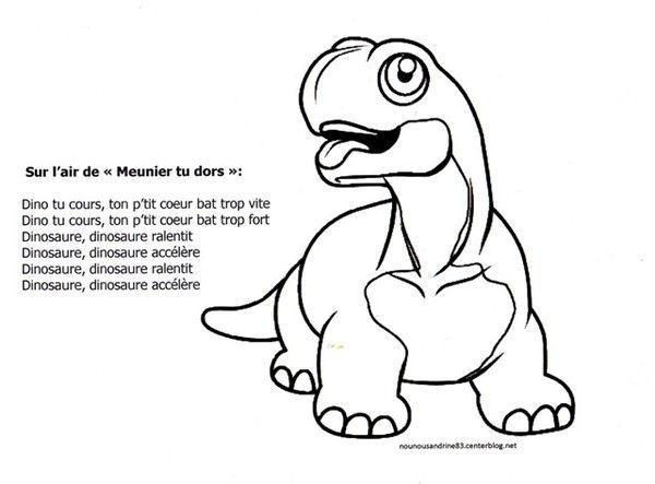 Activit manuelle comptine dinosaure for Par la fenetre ouverte comptine
