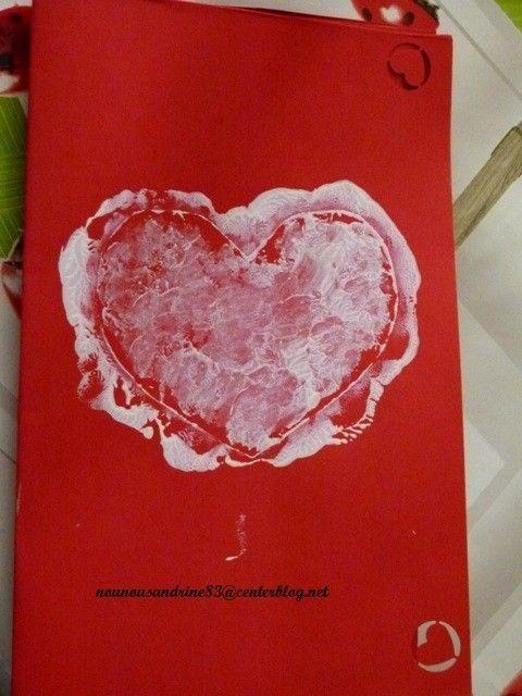 Activit manuelle saint valentin collage peinture - Activite manuelle st valentin ...