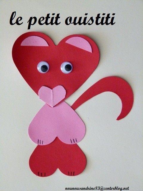Activit Manuelle Saint Valentin Coeur Animaux