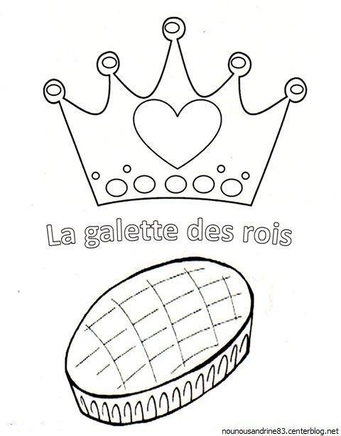activité manuelle : la galette des rois à colorier