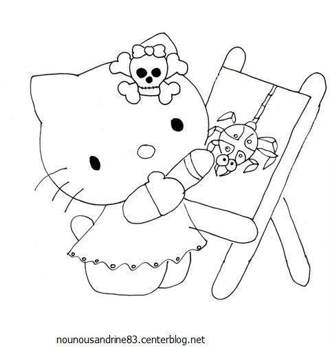 activit manuelle hello kitty halloween. Black Bedroom Furniture Sets. Home Design Ideas