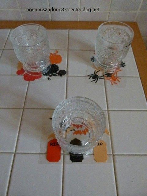 activit manuelle halloween sous verres. Black Bedroom Furniture Sets. Home Design Ideas