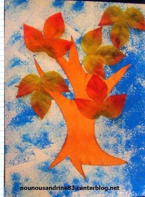 Activit manuelle l 39 arbre et l 39 automne centerblog - Activite automne maternelle ...