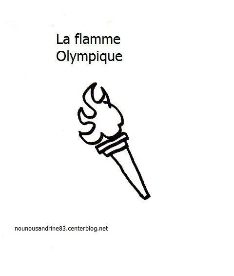Pin coloriage flamme olympique img 26039 on pinterest - Coloriage flamme ...