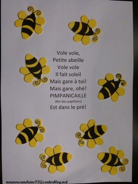 Célèbre manuelle : insectes : abeille : comptine CF39