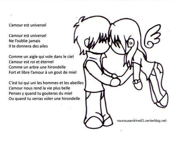 Activit manuelle l 39 amour est universel chanson - Parole saint valentin ...