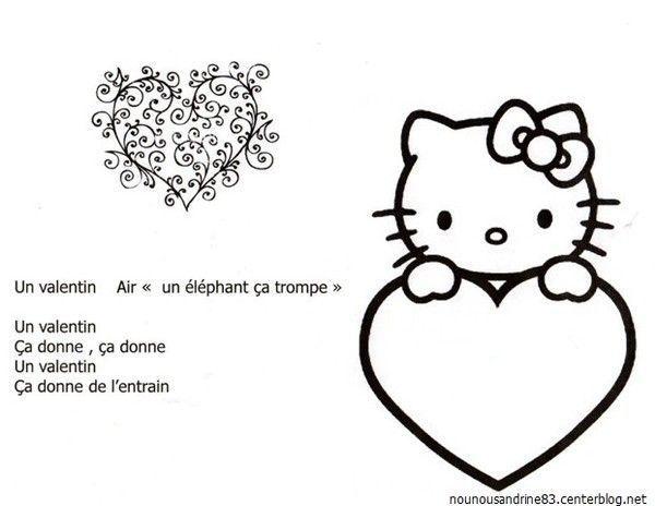 Comptine un valentin a donne - Parole saint valentin ...