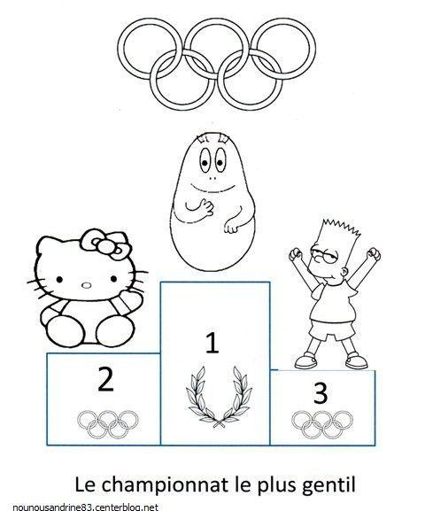 Jeux olympiques - Dessin podium ...