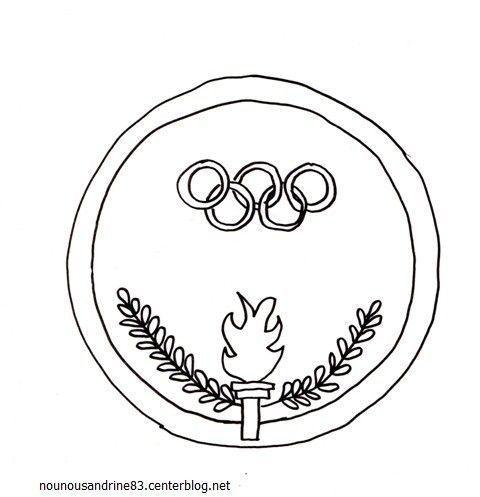 Activit manuelle m daille olympique - Flamme olympique dessin ...