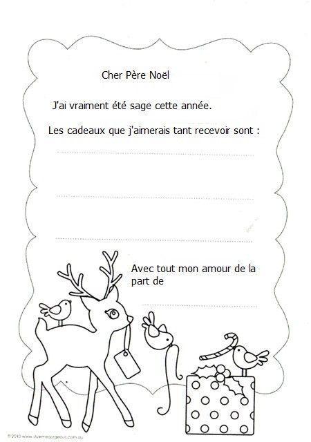 Noel lettre au pere noel - Pere noel maternelle ...