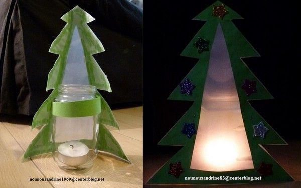 activit manuelle lampe sapin de no l. Black Bedroom Furniture Sets. Home Design Ideas
