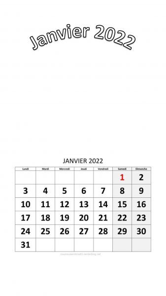 Calendrier 2022 à Personnaliser Calendrier 2022 à personnaliser