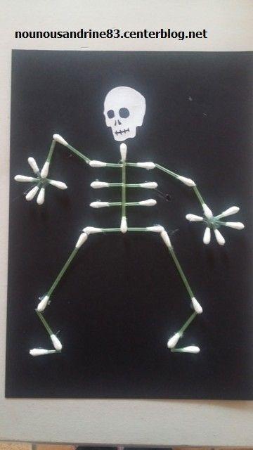 activit manuelle halloween squelette. Black Bedroom Furniture Sets. Home Design Ideas