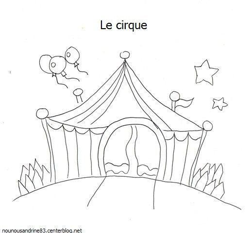 Activit manuelle le cirque le ch piteau - Coloriage chapiteau ...