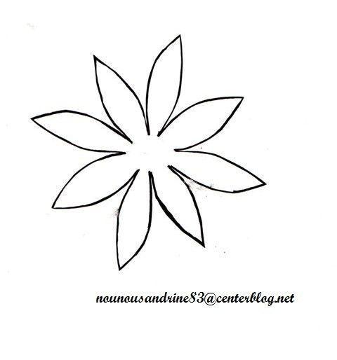 Fete des meres page 3 - Coloriage fleur 8 petales ...