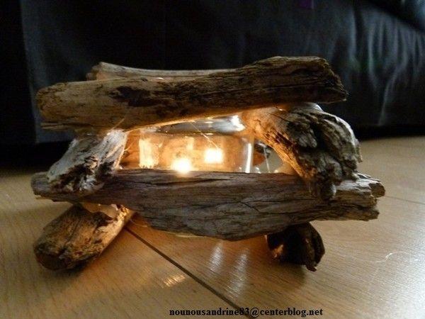 Activit manuelle le photophore de noel for Activite manuelle bois flotte