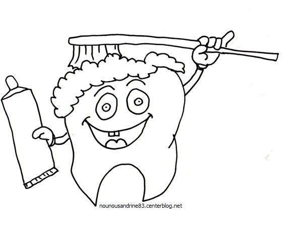 Dents - Coloriage dent ...