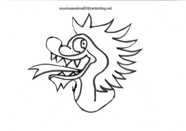 5 continents asie page 4 - Dessin de tete de dragon ...
