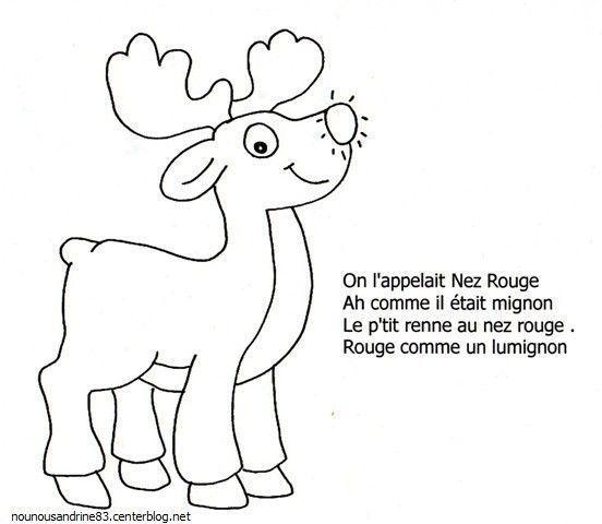 Activit maunelle le petit renne au nez rouge - Dessin de renne au nez rouge ...