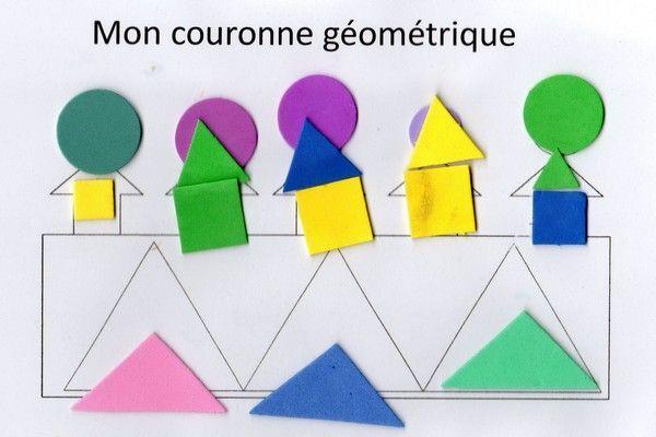 activité manuelle : couronne géométrique