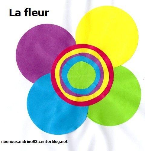 activit manuelle formes g om triques rond la fleur. Black Bedroom Furniture Sets. Home Design Ideas