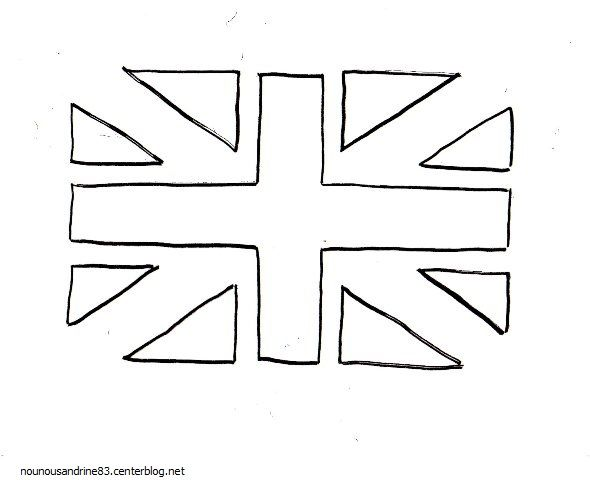 Activit manuelle le drapeau anglais - Drapeau anglais a colorier imprimer ...