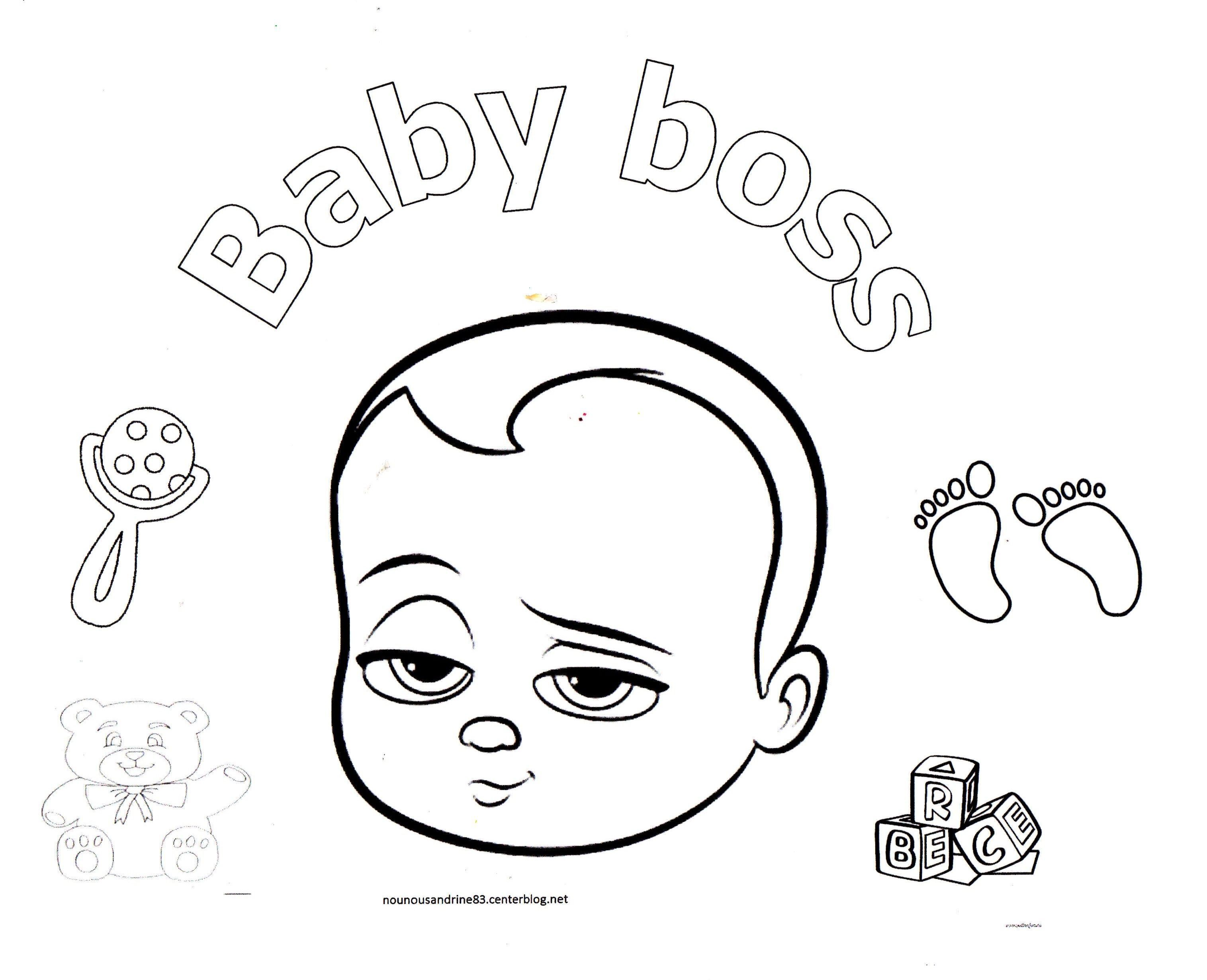Inspirant Dessin Baby Boss A Colorier