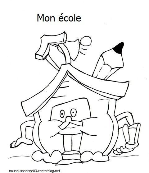 Rentree scolaire page 2 - Coloriage classe maternelle ...
