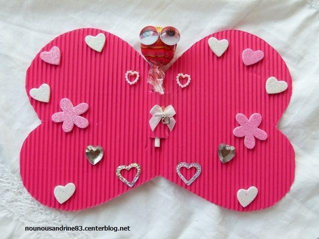Activit manuelle le papillon de la saint valentin sucr - Activite manuelle st valentin ...