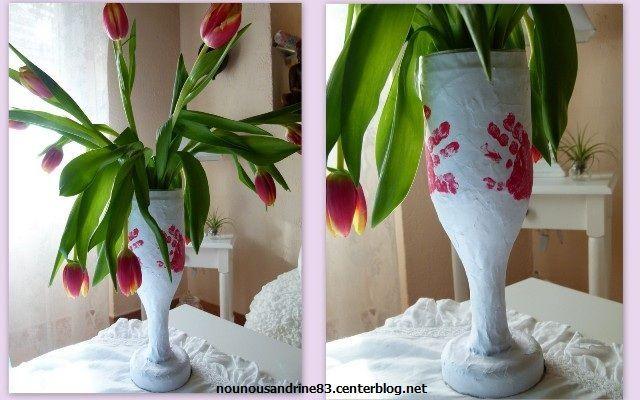 Activit manuelle vase de st valentin - Activite manuelle st valentin ...
