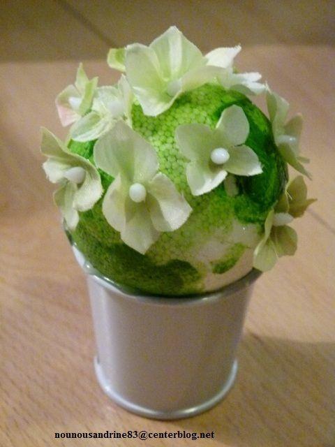 Activit manuelle les pots de fleurs cactus - Activite manuelle fleur ...
