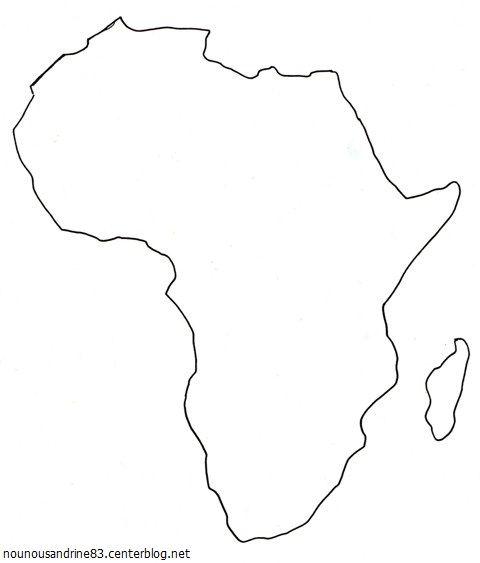 Carte de l 39 afrique - Dessin d afrique ...
