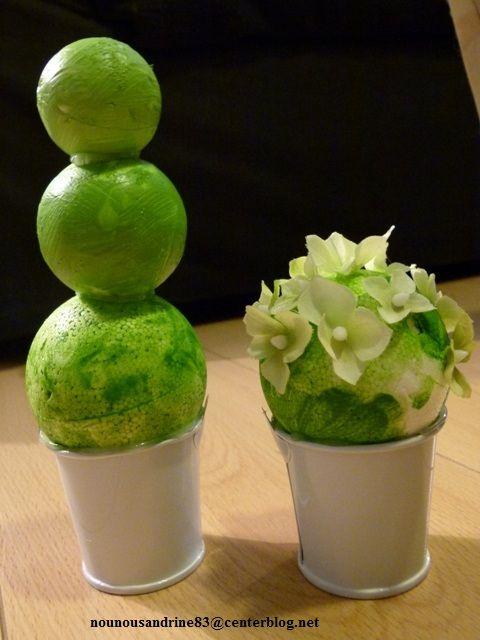 activit manuelle les pots de fleurs cactus. Black Bedroom Furniture Sets. Home Design Ideas