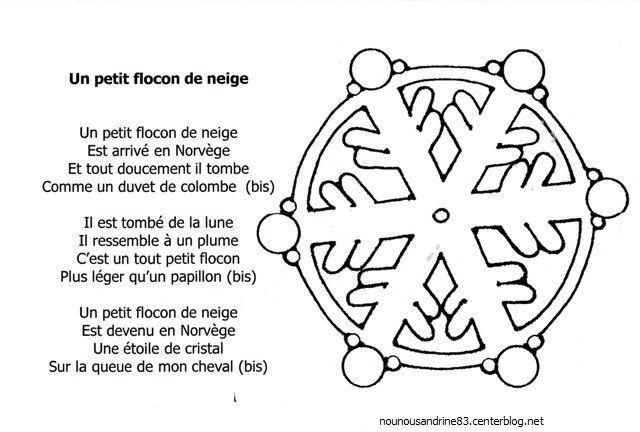 Activit manuelle flocon de neige chanson - Activite hiver maternelle ...