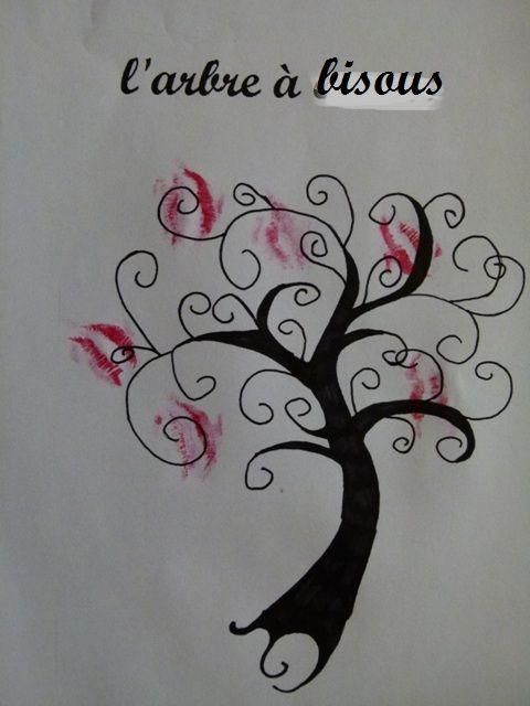 Activit manuelle saint valentin l 39 arbre bisous - Activite manuelle st valentin ...