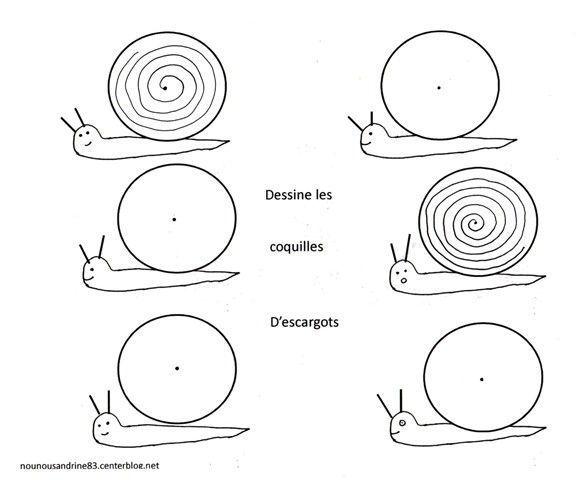 Activit manuelle escargots spirales - Escargot maternelle ...