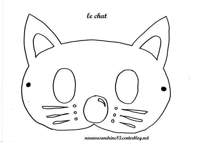 Activit manuelle animaux chat masque - Masque de chat a colorier ...