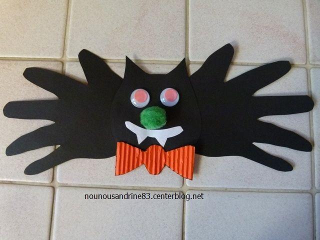 Activit manuelle halloween chauve souris - Activite manuelle avec du recyclage ...