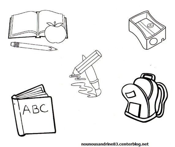 Rentree scolaire page 5 - Coloriage cartable maternelle ...