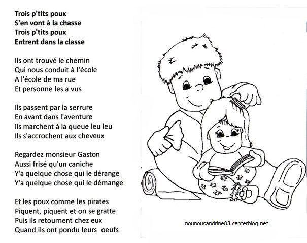 Assistante maternelle nounousandrine 83 page 38 - Une puce un pou assis sur un tabouret ...