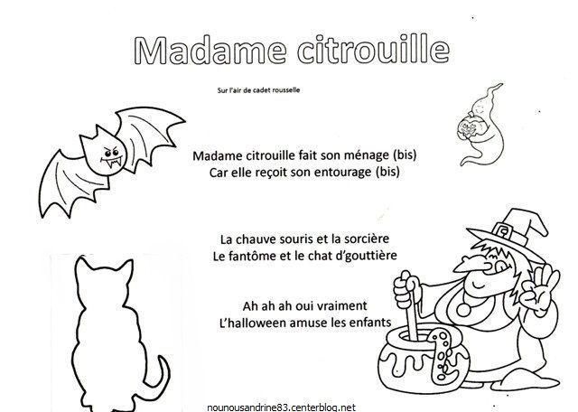 Activité Manuelle : Madame Citrouille
